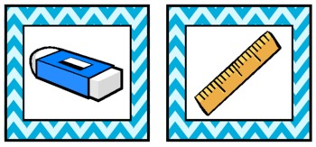 Aqua Chevron Supply Labels