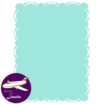 Aqua Clip Art Decoration Scrapbooking Elements - 60 items