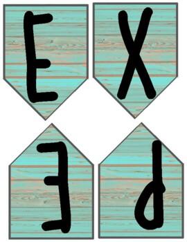 Aqua Distressed Wood Banners!
