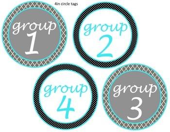 Aqua, Grey, and Black Classroom Decoration Bundle