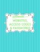 Aqua & Lime Green Planner Binder Combo