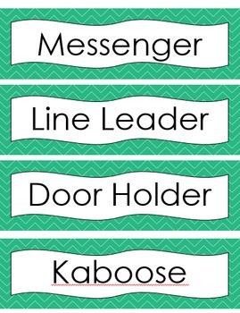 Aqua Simple Classroom Label Set