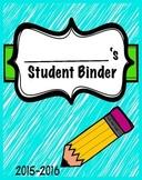 Aqua Student Binder