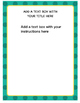Aqua Task Card Templates
