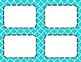 Aqua Tile Classroom Labels and Tags