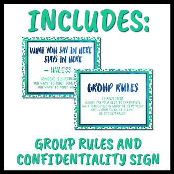 Aqua Watercolor Counseling Signs