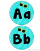 Aqua Word Wall Letters -- Beach Themed