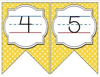 Aqua, Yellow, and Gray Color Scheme Manuscript Print Alphabet Banner