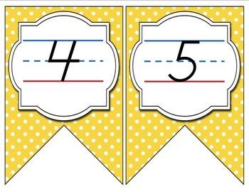 Aqua, Yellow, and Gray Color Scheme Modern Print Alphabet Banner