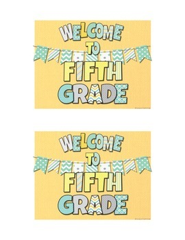 Aqua, Yellow, and Gray Color Scheme Welcome Postcards