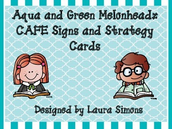 Aqua and Green Melonheadz Cafe Headers and Strategy Cards