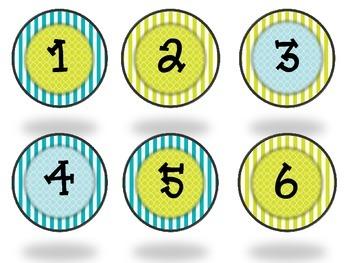 Aqua and Green Melonheadz Student Numbers