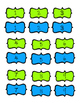 Aqua and Lime Green Numbers