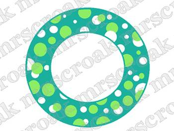 Cards: Lime & Turquoise polka dot circles