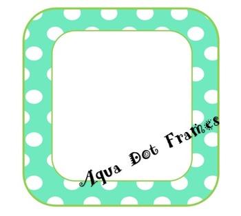 Aqua and Lime Polka Dot Frame
