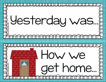 Aqua and Red Today is and How We Get Home Cards