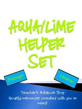 Aqua/Lime Helper Set