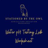 Aquaculture- pH Water Testing Lab Worksheet