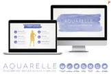 Aquarelle Powerpoint Template with Watercolor Textures