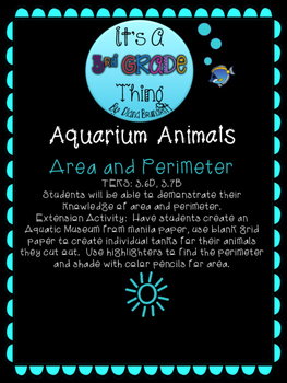 Aquarium Area and Perimeter