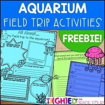 Aquarium Field Trip Activities FREEBIE! {Distance Learning Virtual Field Trips}