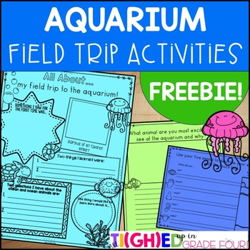 Aquarium Field Trip Activities FREEBIE | Distance Learning Virtual Field Trips