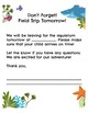 Aquarium Field Trip: Parent Letters and Chaperone Resources