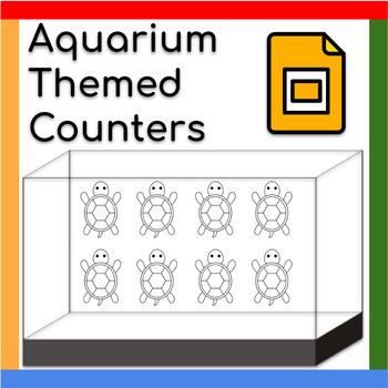 Math Counters: Basic Operations and Part-Part-Whole (Aquarium-themed)