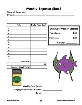 Aquarium Owner Math Project