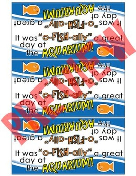 Aquarium Snack Pack Labels