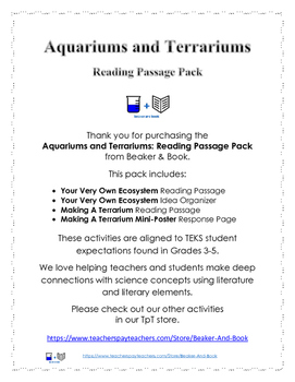 Aquariums and Terrariums: Reading Passage Pack
