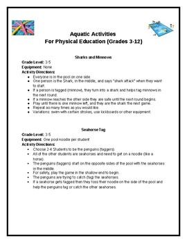 Aquatic Activities for PE (Grades 3-12)