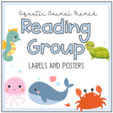 Aquatic Animal Theme Reading Group Sign Label Posters