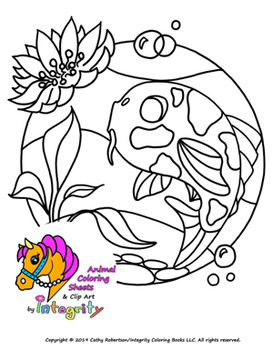 Aquatic Animals Coloring Pages - Sea Life - Fresh Water - Coloring ...