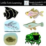 Aquatic Animals (Fi-Gl) Clip Art - Commercial Use