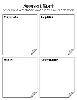 Aquatic Animals. Research Template Packet. Apologia Zoology 2. Lesson 1