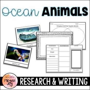 Marine Animals / Aquatic Habitat Research & Writing Unit