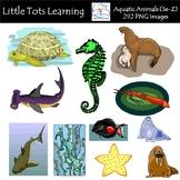 Aquatic Animals (Se-Z) Clip Art - Commercial Use