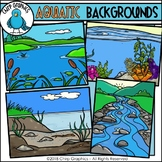 Aquatic Background Scenes Clip Art - Chirp Graphics