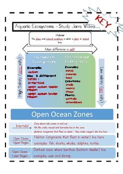 Aquatic Ecosystem Study Jams Video Notes