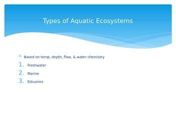 Aquatic Ecosystems PowerPoint