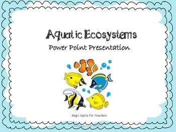 Aquatic Ecosystems - Saltwater Ecosystems Power Point Presentation