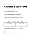 Aquatic Ecosystems Study Jams