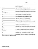 Aquatic Ecosystems Vocabulary Quiz or Worksheet for Environmental Science