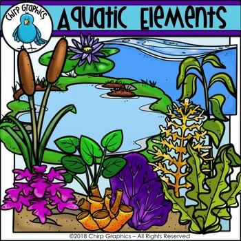 Aquatic Elements Clip Art - Chirp Graphics