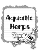 Aquatic Herps Research Template Packet. Apologia Zoology 2. Lesson 4