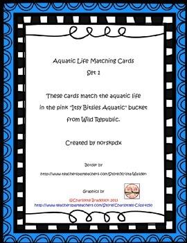 Aquatic Life Matching Cards Set 1