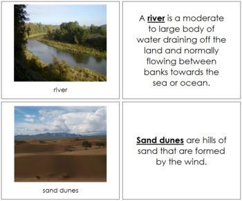 Aquatic and Land Features (Photos) Book - Set 1