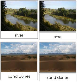 Aquatic and Land Features (Photos) Cards - Set 1