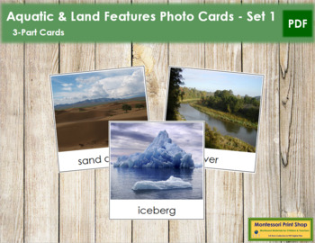 Aquatic and Land Feature Cards - Set 1